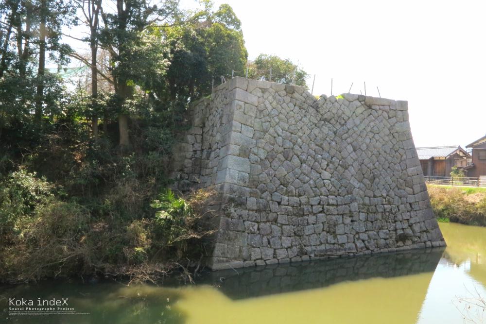 水口城跡のお堀と石垣の写真・画像